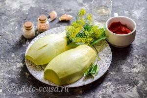 Маринованные кабачки в томатном соусе «Кровавая Мэри» на зиму: Ингредиенты