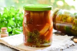 Маринованные кабачки в томатном соусе «Кровавая Мэри» на зиму готовы