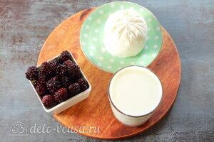 Молочный коктейль с ежевикой: Ингредиенты