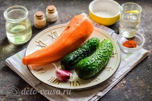 Огурцы с морковью по-корейски: Ингредиенты