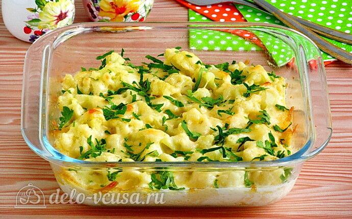 Омлет с цветной капустой и сыром в духовке