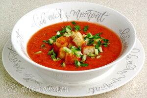 Простой томатный суп гаспачо готов
