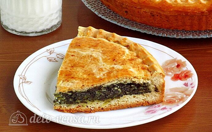 Рецепт сладкий пирог со щавелем и творогом
