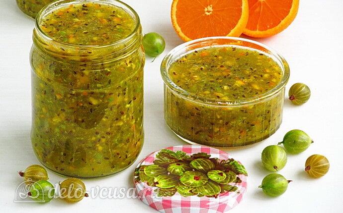 Рецепт сырое варенье из крыжовника с апельсином на зиму