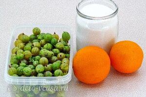 Сырое варенье из крыжовника с апельсином на зиму: Ингредиенты