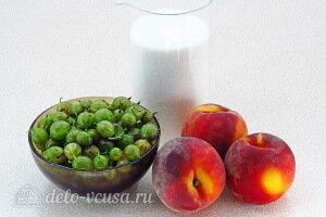 Сырой джем из крыжовника и персиков на зиму: Ингредиенты