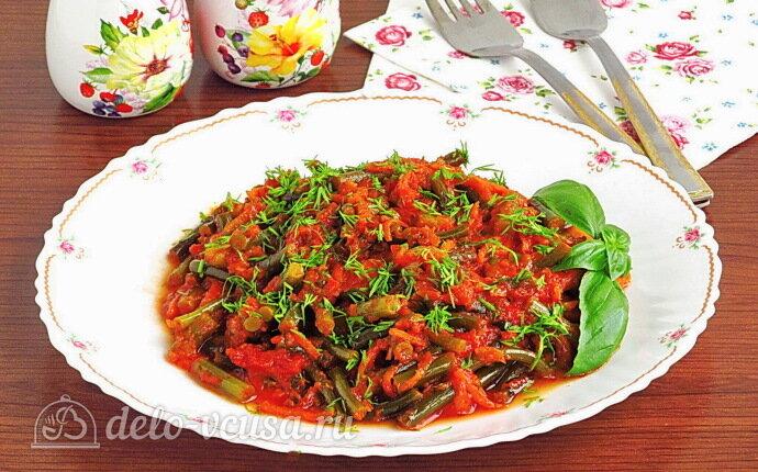 Рецепт тушеные чесночные стрелки в томатном соусе