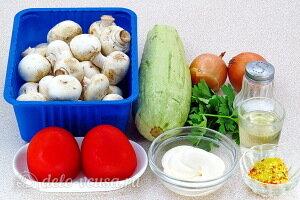 Запеченные кабачки с грибами и помидорами: Ингредиенты