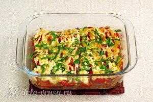 Запеченные кабачки с грибами и помидорами готовы