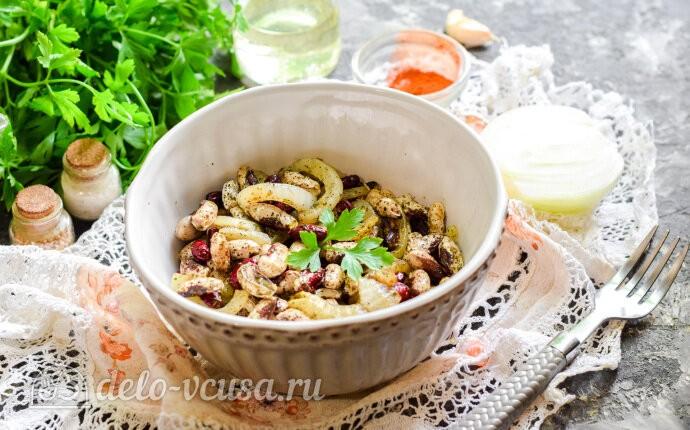 Рецепт жареная фасоль с луком