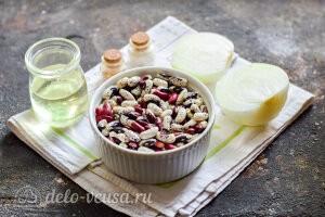 Жареная фасоль с луком: Ингредиенты