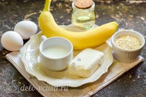 Овсяноблин с творогом и бананом: Ингредиенты