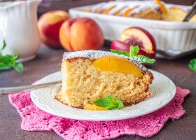Рецепт пирог с консервированными персиками и рикоттой
