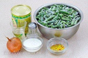 Стручковая фасоль с тушёнкой: Ингредиенты