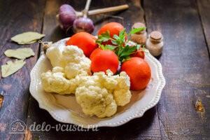 Цветная капуста с помидорами на зиму: Ингредиенты