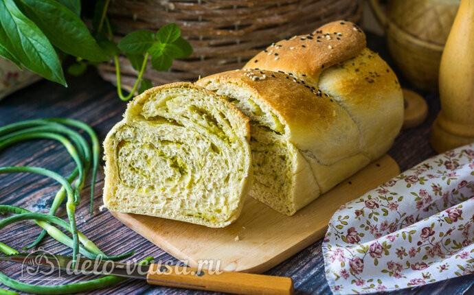 Рецепт ароматный хлеб с чесночными стрелками