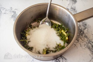 Лимонад тархун: добавляем по вкусу сахар