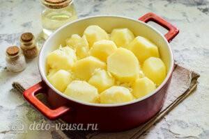 Кладем оставшийся картофель