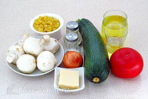 Макароны с кабачками и шампиньонами: Ингредиенты