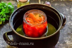 Маринованный перец с чесноком на зиму: Стерилизуем перцы 15 минут