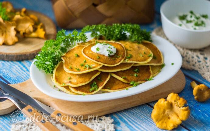 Рецепт оладьи с грибами на кефире