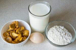 Оладьи с грибами на кефире: Ингредиенты