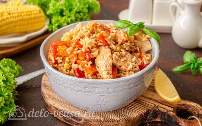 Рецепт овощное рагу с курицей и рисом