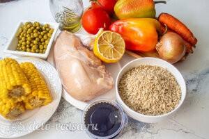 Овощное рагу с курицей и рисом: Ингредиенты