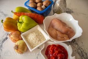 Перец фаршированный курицей и грибами: Ингредиенты