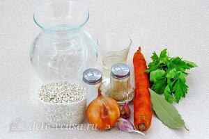 Перловая каша с луком и морковью в мультиварке: Ингредиенты