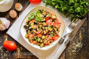 Салат «Лаззат» с баклажанами готов