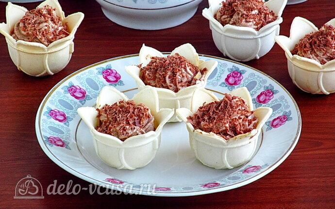 Рецепт сладкие тарталетки с творожно-шоколадным кремом