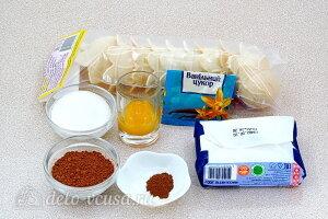Сладкие тарталетки с творожно-шоколадным кремом: Ингредиенты