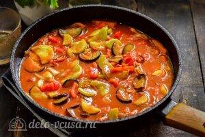 Соте из баклажанов и кабачков: Тушим овощи до готовности