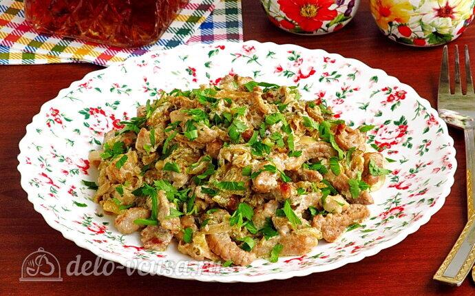 Рецепт свинина «богатырская» с солеными огурцами
