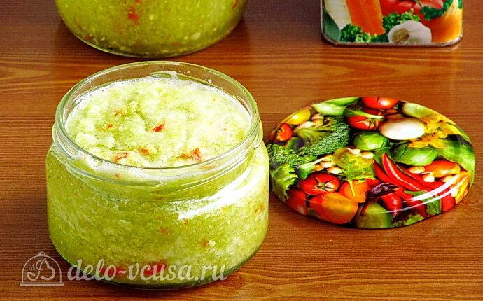 Сырая аджика из сладкого зеленого перца
