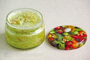 Сырая аджика из сладкого зеленого перца готова