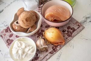 Бефстроганов из курицы с грибами: Ингредиенты