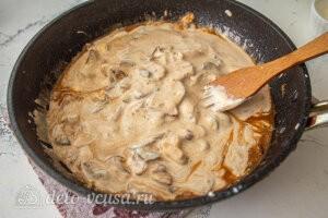 Бефстроганов из курицы с грибами: Доводим блюдо до готовности