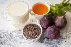 Чиа-пудинг с инжиром: Ингредиенты