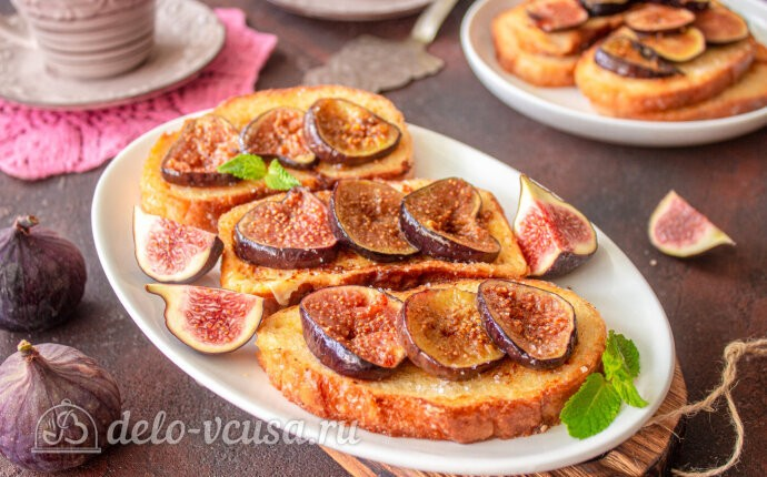 Рецепт французские тосты с инжиром