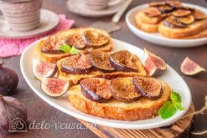 Французский тост с инжиром готовы