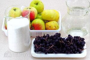 Компот из яблок и черноплодной рябины на зиму: Ингредиенты
