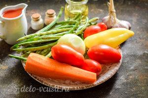 Лечо со стручковой фасолью на зиму: Ингредиенты