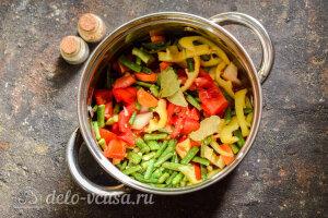 Лечо со стручковой фасолью на зиму: тушим овощи на плите в томатном соке