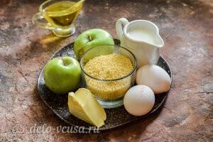 Пшенная запеканка с яблоками: Ингредиенты