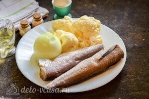Рыбные котлеты с цветной капустой: Ингредиенты