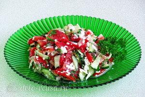 Шопский салат готов