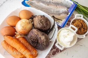 Селедка под шубой по Дюкану: Ингредиенты