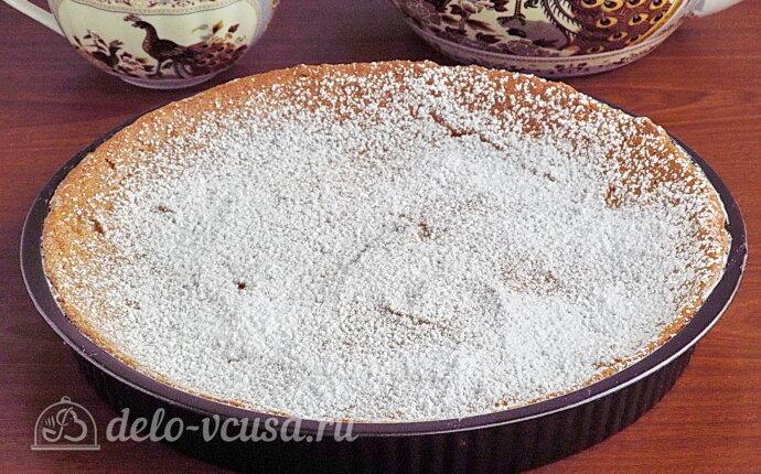 Белковый пирог «Три ингредиента» с черносливом